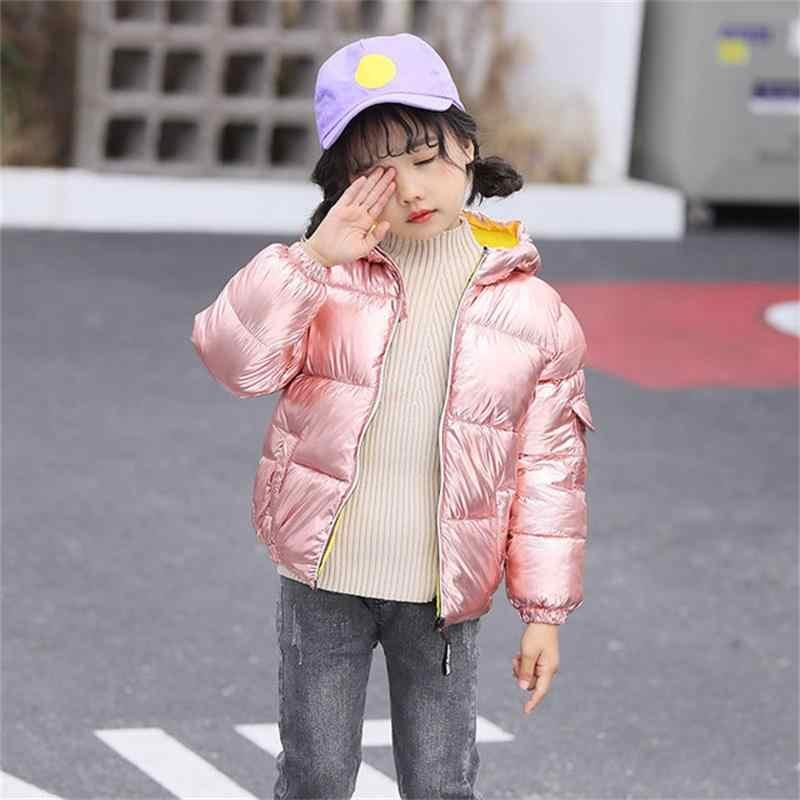 בנות מעיל מעיל חורף ילדים חם סלעית מעיל לילדים ללבוש כותנה בגדים דו צדדי ללבוש בהיר צבע גברים של מעיל