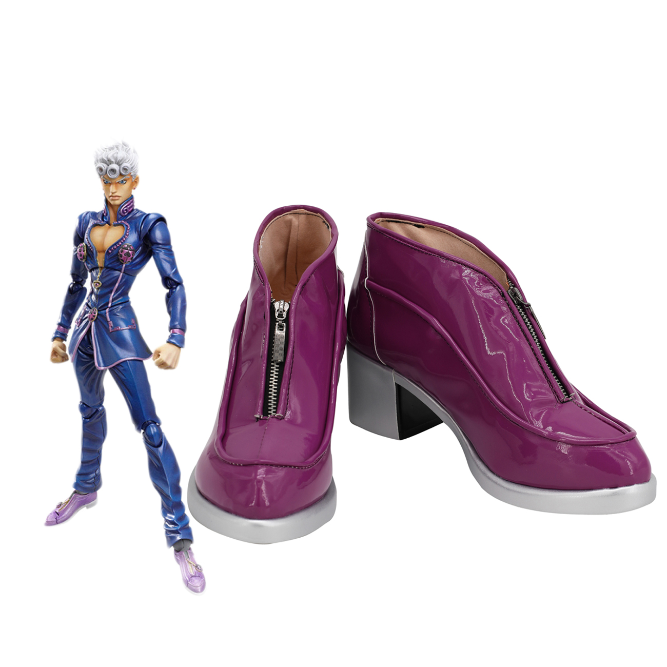 JoJo's Bizarre Adventure Giorno Giovanna Cosplay Shoes Purple Boots Custom Made Any Size
