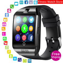 hot new 2019 Smart Watch With Camera, Q18 Bluetooth Smartwatch SIM TF Card Slot Fitness Activity Tracker Sport Watch For Android