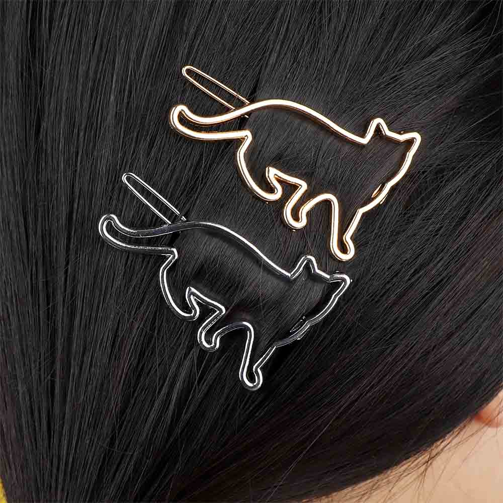 for Gift Fashion Jewelry Hairpin Hair Clip Hollow Out Geometric Elliptical