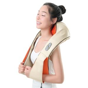 Image 1 - KLASVSA 12 Massage Heads Sưởi Ấm Cổ Vai Nhào Massager Cổ Tử Cung Điều Trị Chăm Sóc Sức Khỏe Lại Eo Pain Relief Thư Giãn