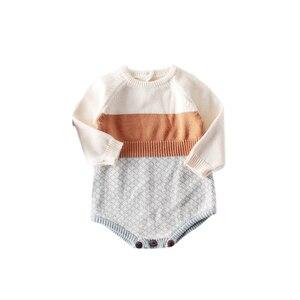 Image 1 - 2009 Nieuwe Baby Meisje Bodysuits Retro Colour Gebreide Kleding Bottom Gewikkeld Horsewear En Kruipen Kleding