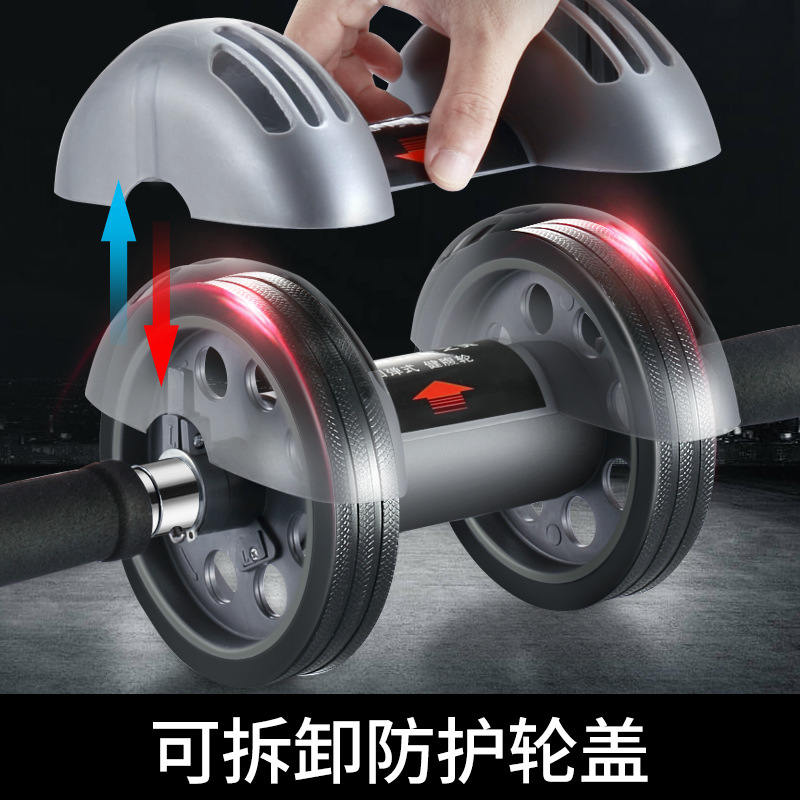 Resilient-Power Roller Mute Men Breast Muscle Training Household Fitness Equipment Belly Control Practice Abdominal Wheel