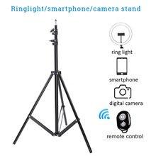 Tripé de luz para câmera do telefone telefone rack monopé com suporte do telefone controle remoto para selfie foto vídeo tiktok