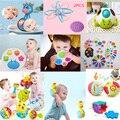 Детская погремушка-грызунок мяч идеально прорезывания зубов мягкий успокаивающий сенсорные детская игрушка, ручной Колокольчик для ранне...