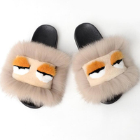 New Summer and autumn home air conditioning wool slippers sheepskin all in one solid color wool slippers female cotton slippers