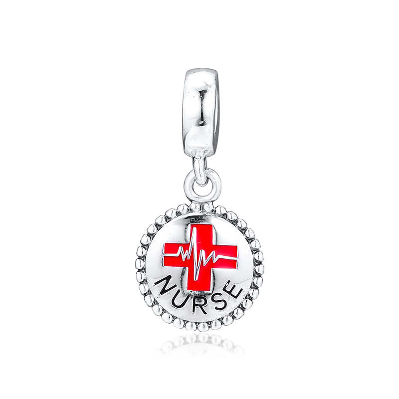 Qandocci Fits For Pandora Charms Bracelets Red Enamel Nurse Dangle 100 925 Sterling Silver Jewelry Beads Free Shipping Beads Aliexpress