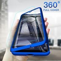 Custodia sottile antiurto per Xiaomi Redmi Note 7 6 5 7A K20 9T GO 5A 6A Pro con pellicola protettiva in vetro a 360 gradi