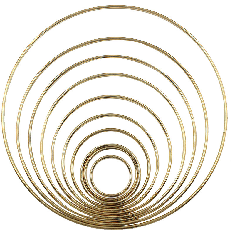 1pack/lot Gold Color 35-190mm Big Dream Catcher Circle Ring Craft Metal Rings For Dream Catchers Hoops Hanging DIY Connectors