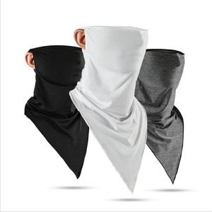 1Pcs Summer Ice Silk Triangle Scarf Sunscreen Mask Men And Women Outdoor Sports Riding Magic Turban Windproof Multi-functional(China)