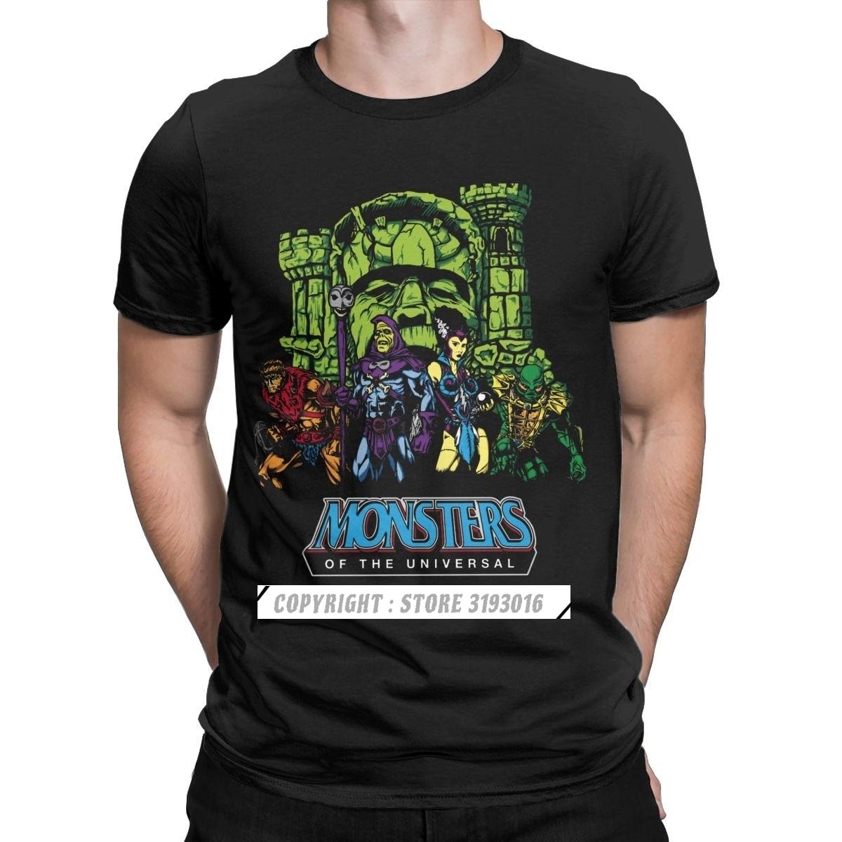 Canavarlar evrensel He-Man evren erkek T shirt Skeletor 80s she-ra Beast tee T shirt pamuk
