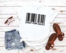 Не для продажи женская футболка с принтом штрих кода хлопковая