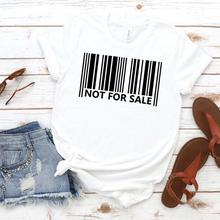 Not For Sale Barcode Print Women tshirt Cotton Casual Funny t shirt
