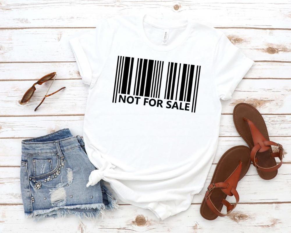Not For Sale Barcode Print Women Tshirt Cotton Casual Funny T Shirt Gift 90s Lady Yong Girl Drop Ship S-868