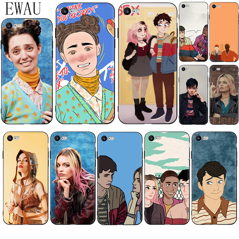 EWAU <font><b>Sex</b></font> Education Soft Silicone phone <font><b>case</b></font> for <font><b>iphone</b></font> SE 2020 5 5s SE 6 6s <font><b>7</b></font> 8 <font><b>plus</b></font> X XR XS 11 Pro Max image