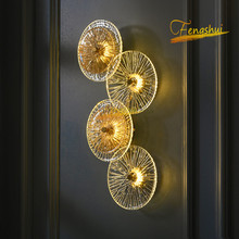 Modern Light Luxury LED Wall Lamp Nordic Crystal Lotus Wall Lights Bedside Hallway Background Lamp Bedroom Living Room Wall Lamp bokt led bedroom bedside wall lamp nordic minimalist macaron background wall light for living room bedroom aisle hallway