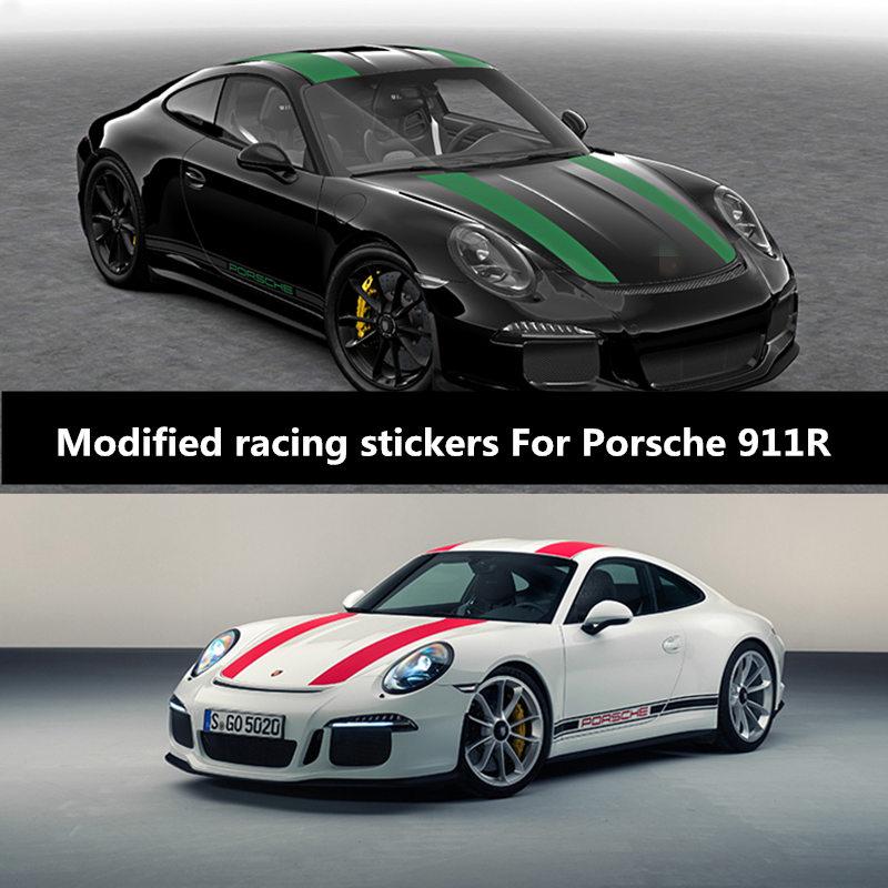 Corrida etiqueta do carro lamer boxster corpo porta capô decoração exterior modificado adesivo para porsche 911 r|Adesivos para carro| |  - title=