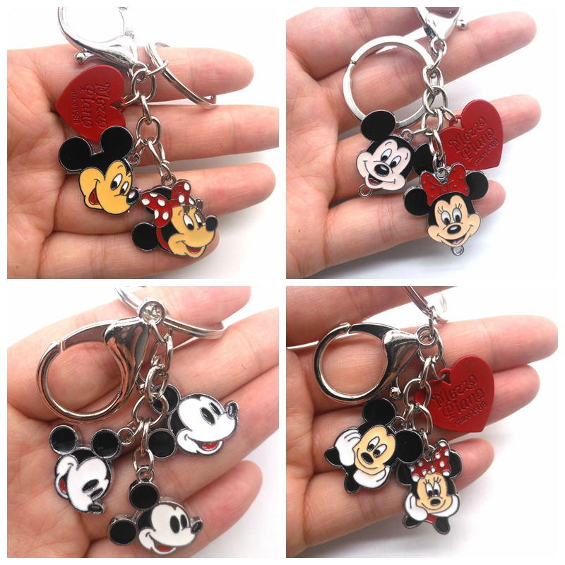 New 1 Pcs Cartoon Mickey Minnie  Keychain Jewelry Accessories Key Chains Pendant Gifts Favors