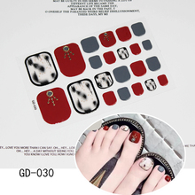 1 Piece Nail Sticker DIY 3D Decals stripe Red plaid Tips Manicure Art New Toe nail sticker