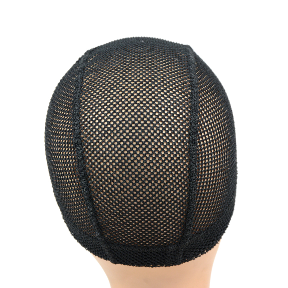 1Pcs Big Hole Mesh Dome Wig Cap Hair Nets Large Hole Black Dome Caps To Make Wigs With Elastic Band Wave Cap