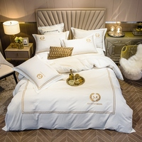 New 4pcs 100% cotton Duvet Cover Sets King Queen Size Bedding Sets Pillowcases embroidery bed cover Bed Linen