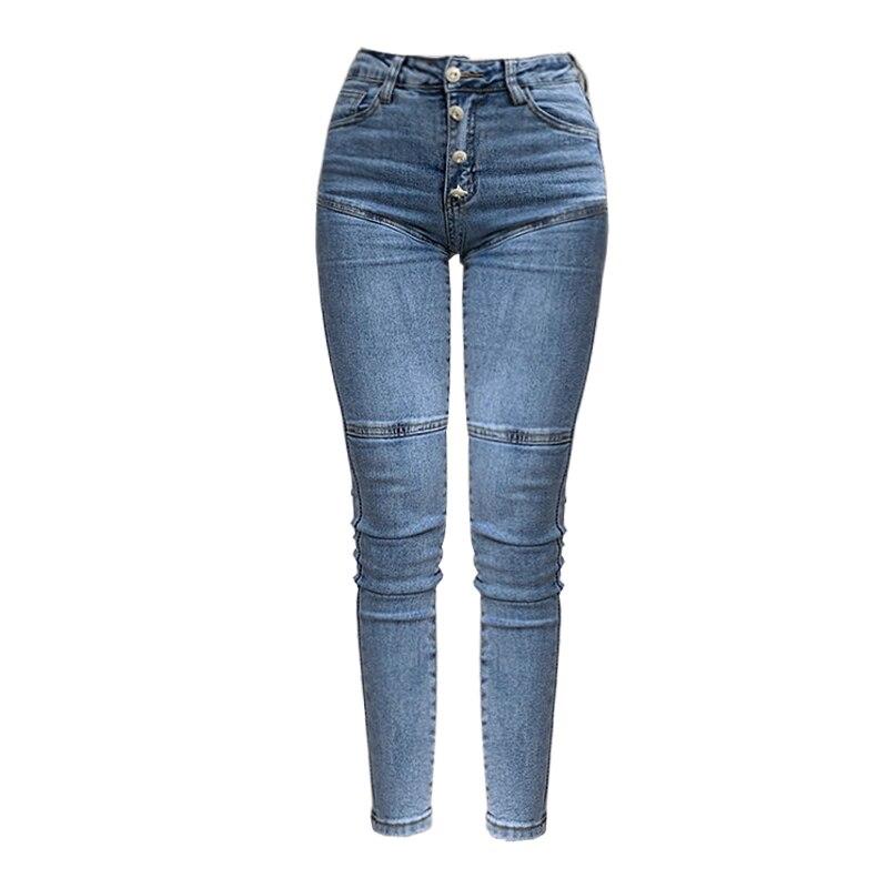 Spring / Summer 2020 New Jeans Women's High Waist Stretch Hip Slim Fit Skinny Skinny Feet Nine Points Pencil Pants 3