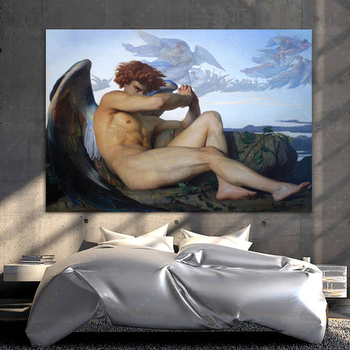 Fallen Angel by Alexandre Cabanel Printed on Canvas 1