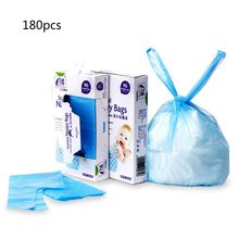 2021 New Diaper Rubbish Bag Eco Disposal Nappy Bags With Tie Handles -2 x Packs of 90 (Total 180 Disposal Bags)