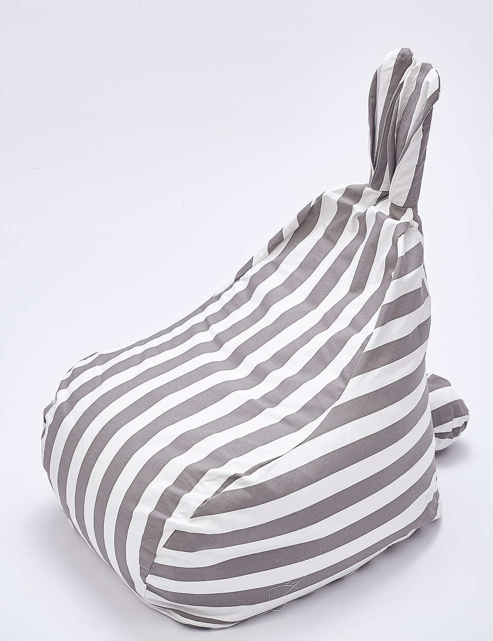 Nordic Striped Cute Rabbit Ear Children's Sofa Modern Simple Leisure Bean Bag Can Be Removed And Washed Couch For The Lazy