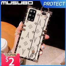 Musubo lüks kılıf Samsung Galaxy not için 20 Ultra S20 artı S10 Fundas deri kapak notu 10 artı S21 artı hoesje Coque moda