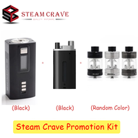 Steam Crave Hadron Bundle 220W Box Mod Powered by Dual 18650/21700 Batteries with Glaz RTA V2 RTA & 25ml Hadron Squonk Backpack