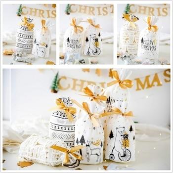 christmas gift bags christmas presents christmas bags lot santa claus bag candy bag christmas decorations 2019 new year presents 1