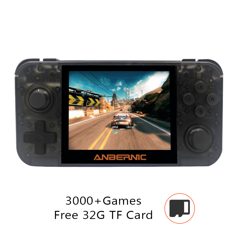 RG350 Retro Video Game Console 16GB Handheld Game Player Support 128GB TF Car 3.5-inch IPS Screen TV Output Rechargeable