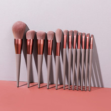12pcs Complete Makeup Brushes Kit brochas maquillaje Powder Eyebrochas Eyeshadow Brush Brushes With Free Shipping free shipping 2013 new arrival 12pcs natural goat hair purple makeup brushes sets with free pu leather cylinder dropship