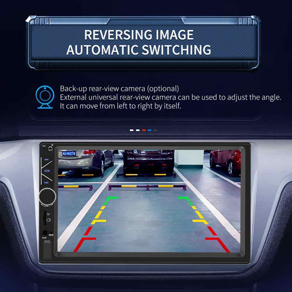 Reproductor de vídeo MP5 de pantalla táctil para coche Audio estéreo Radio FM Aux/USB/entrada TF con teléfono móvil reproductor de coche de interconexión A6