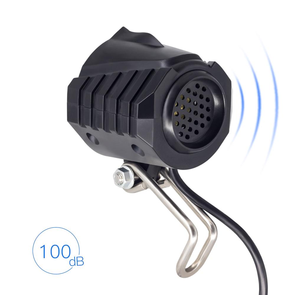 WEXPLORE – Kit d'éclairage avant et arrière pour vélo électrique,avec haut-parleur intégré, entrée de 12V, 24V, 36V, 48V et 60V,