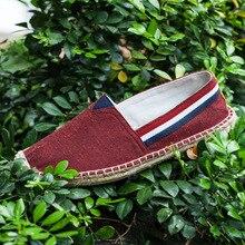 New Style Couples Canvas Shoes Linen Sole Lazy Espadrilles M