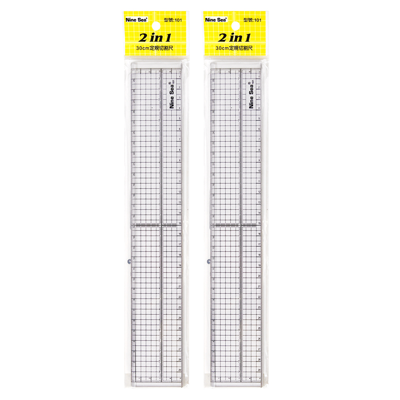 Fixed Rule Cutting Metal Ruler Patchwork 30cm Measuring Handmade Ruler Cutting