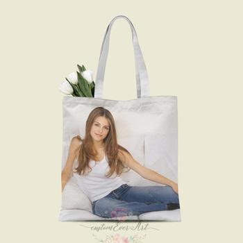 Maria Menounos tote bag custom canvas tote bags for women for teacher Birthday Bags Gift Bag personalized gifts