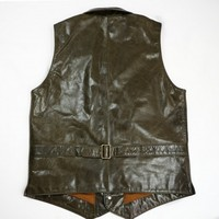 Luxury cattle leather vest men's motorcycle shorts Leather Vest men's high end sleeveless coat