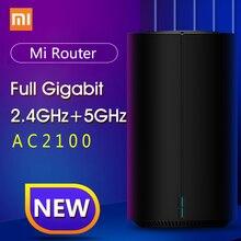 100% Original Xiao mi Router AC2100 1733Mbps WiFi Repeater Gigabit Ethernet Port 2,4G 5G WiFi 128Mb mi WiFi Router APP Control