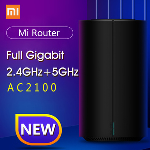 Image 1 - 100% Original Xiao mi Router AC2100 1733Mbps WiFi Repeater Gigabit Ethernet Port 2,4G 5G WiFi 128Mb mi WiFi Router APP Control