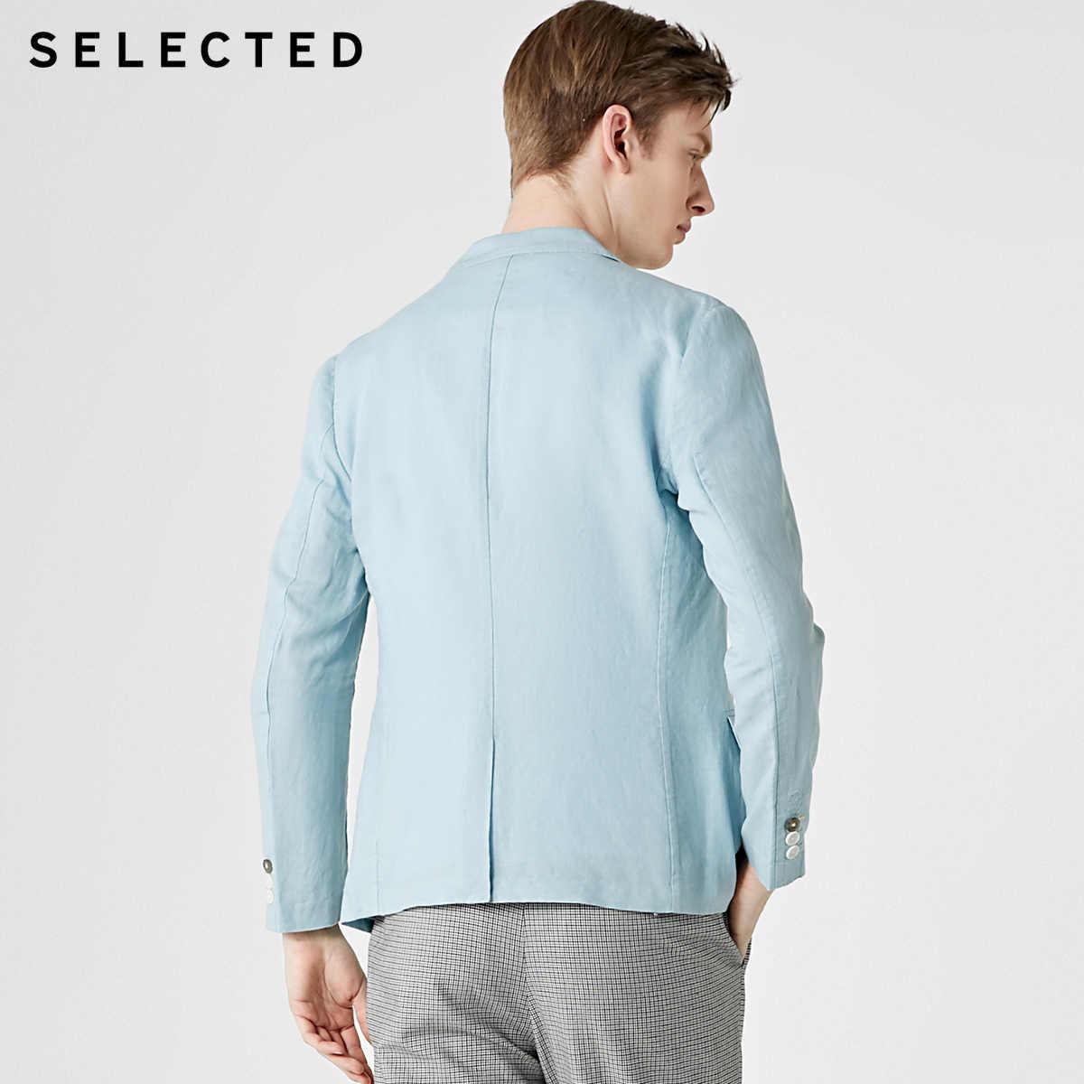 Chọn Lọc Nam Cotton & Vải Lanh Pha Trộn Mỏng Phù Hợp Với Áo Khoác Blazer S | 419208512