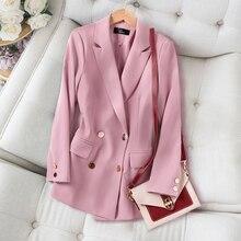 Small Suit Jacket Women Korean British style 2020 Spring Autumn New Plus size Lo