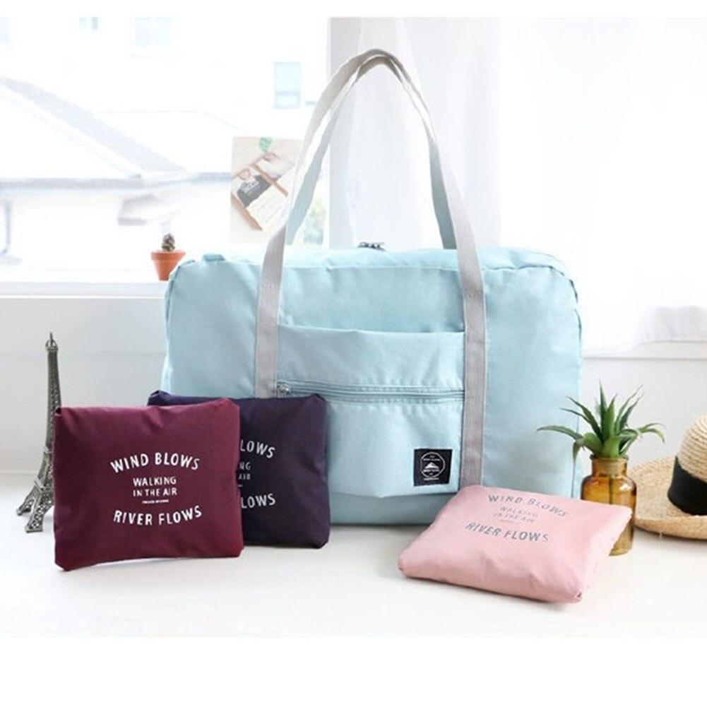 Sale Travel Bags Large Casual Waterproof   Clothes Capacity  Shoulder Bag Foldable Handbag Duffle Bag