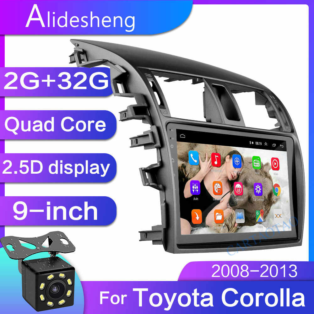 2G+32 2.5D 2Din Android 8.1 GO car dvd Multimedia player GPS for Toyota Corolla E140/150 2006 2007 2008-2013  navigatio WiFi BT