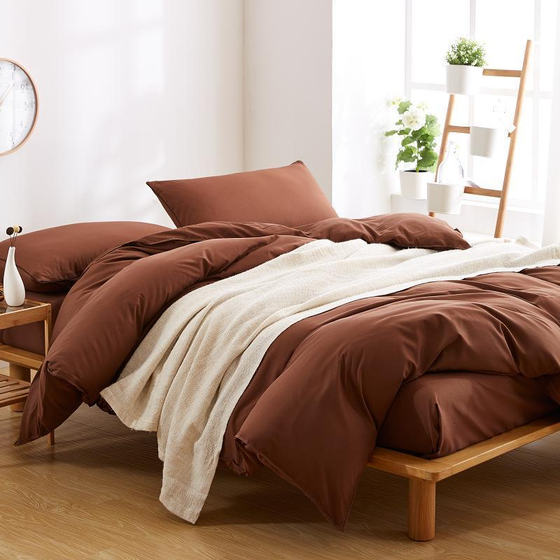 Best Brown Polyester Microfiber Bed Sheet Sets