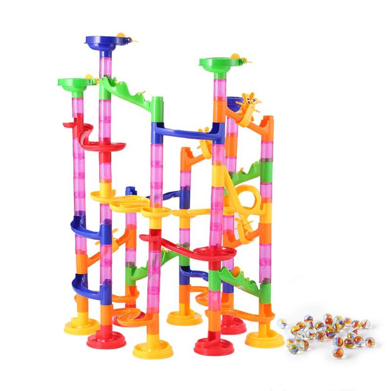 DIY Marble Race Run Track Huge Construction Building Blocks Maze Ball Roll Toys Educational Toy Kid's Gift