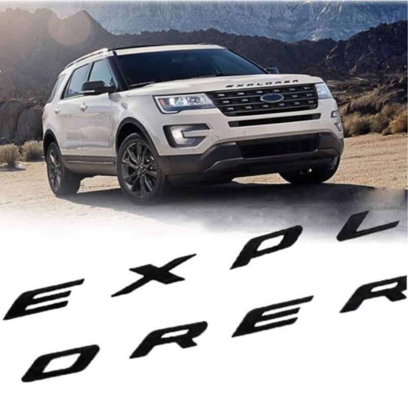 Explorer Car Emblem Front Hood Emblem 3D Letters Explorer Sticker Fit For Ford 2011-2019 Explorer