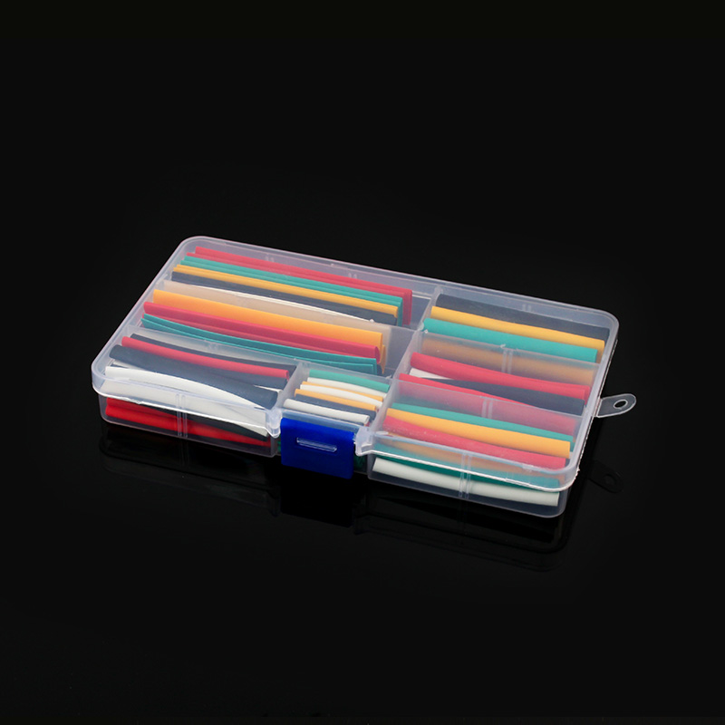 140pcs Polyolefin Shrinking Assorted Heat Shrink Tube Wire Cable Insulated Sleeving Tubing Set 2: 1 Protection Cable